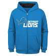 "Detroit Lions Youth NFL ""Game Stated"" Full Zip Hooded Sweatshirt"