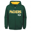 """Green Bay Packers Youth NFL """"Game Stated"""" Full Zip Hooded Sweatshirt"""