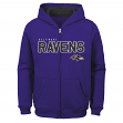 "Baltimore Ravens Youth NFL ""Game Stated"" Full Zip Hooded Sweatshirt"