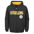 "Pittsburgh Steelers Youth NFL ""Game Stated"" Full Zip Hooded Sweatshirt"