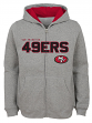 "San Francisco 49ers Youth NFL ""Game Stated"" Full Zip Hooded Sweatshirt - Gray"