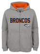 "Denver Broncos Youth NFL ""Game Stated"" Full Zip Hooded Sweatshirt - Gray"