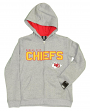 "Kansas City Chiefs Youth NFL ""Game Stated"" Full Zip Hooded Sweatshirt - Gray"