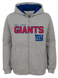 """New York Giants Youth NFL """"Game Stated"""" Full Zip Hooded Sweatshirt - Gray"""