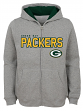 "Green Bay Packers Youth NFL ""Game Stated"" Full Zip Hooded Sweatshirt - Gray"