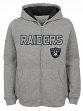 "Oakland Raiders Youth NFL ""Game Stated"" Full Zip Hooded Sweatshirt - Gray"