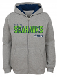 "Seattle Seahawks Youth NFL ""Game Stated"" Full Zip Hooded Sweatshirt - Gray"
