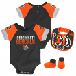 "Cincinnati Bengals NFL ""50 Yard Pass"" Infant Creeper, Bib & Bootie Set"