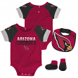 "Arizona Cardinals NFL ""50 Yard Pass"" Infant Creeper, Bib & Bootie Set"