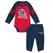 "New England Patriots NFL ""Future Starter"" Infant Long Sleeve Creeper & Pant Set"