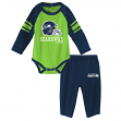 "Seattle Seahawks NFL ""Future Starter"" Infant Long Sleeve Creeper & Pant Set"