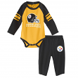 "Pittsburgh Steelers NFL ""Future Starter"" Infant Long Sleeve Creeper & Pant Set"