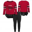 "Atlanta Falcons NFL Toddler Girls ""Mini Formation"" L/S Top & Legging Set"