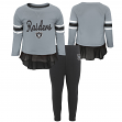 "Oakland Raiders NFL Toddler Girls ""Mini Formation"" L/S Top & Legging Set"
