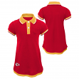 "Kansas City Chiefs NFL ""Lil Cheer Coach"" Toddler Girls Faux Layer Polo Dress"