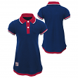 "New York Giants NFL ""Lil Cheer Coach"" Toddler Girls Faux Layer Polo Dress"