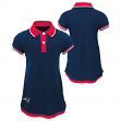 "New England Patriots NFL ""Lil Cheer Coach"" Toddler Girls Faux Layer Polo Dress"