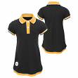 "Pittsburgh Steelers NFL ""Lil Cheer Coach"" Toddler Girls Faux Layer Polo Dress"