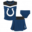 "Indianapolis Colts NFL Toddler Girls ""Spirit Cheer"" Cheerleader 2 Piece Set"