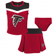 "Atlanta Falcons NFL Toddler Girls ""Spirit Cheer"" Cheerleader 2 Piece Set"