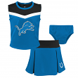 "Detroit Lions NFL Toddler Girls ""Spirit Cheer"" Cheerleader 2 Piece Set"