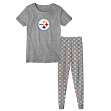 "Pittsburgh Steelers Youth NFL ""Playoff Bound"" Pajama T-shirt & Sleep Pant Set"
