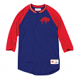 "Buffalo Bills Mitchell & Ness NFL Men's ""4th Down"" 3/4 Sleeve Henley Shirt"