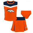 "Denver Broncos NFL Girls ""Spirit Cheer"" Cheerleader 2 Piece Set"