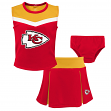 "Kansas City Chiefs NFL Girls ""Spirit Cheer"" Cheerleader 2 Piece Set"
