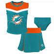 "Miami Dolphins NFL Girls ""Spirit Cheer"" Cheerleader 2 Piece Set"