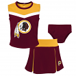 "Washington Redskins NFL Girls ""Spirit Cheer"" Cheerleader 2 Piece Set"