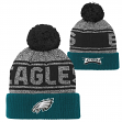 "Philadelphia Eagles Youth NFL ""Legacy"" Cuffed Knit Hat w/ Pom"