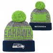 "Seattle Seahawks Youth NFL ""Legacy"" Cuffed Knit Hat w/ Pom"
