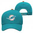 """Miami Dolphins Youth NFL """"Basic Logo"""" Structured Adjustable Hat"""