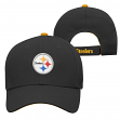 "Pittsburgh Steelers Youth NFL ""Basic Logo"" Structured Adjustable Hat"