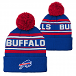 "Buffalo Bills Youth NFL ""Goal Line"" Cuffed Knit Hat w/ Pom"