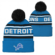 "Detroit Lions Youth NFL ""Goal Line"" Cuffed Knit Hat w/ Pom"