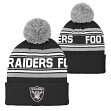 "Oakland Raiders Youth NFL ""Goal Line"" Cuffed Knit Hat w/ Pom"