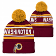 "Washington Redskins Youth NFL ""Goal Line"" Cuffed Knit Hat w/ Pom"