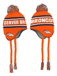 "Denver Broncos Youth NFL ""Deep Pass"" Striped Tassel Knit Hat w/ Pom"