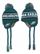 "Philadelphia Eagles Youth NFL ""Deep Pass"" Striped Tassel Knit Hat w/ Pom"