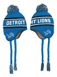 "Detroit Lions Youth NFL ""Deep Pass"" Striped Tassel Knit Hat w/ Pom"