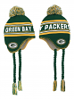 "Green Bay Packers Youth NFL ""Deep Pass"" Striped Tassel Knit Hat w/ Pom"