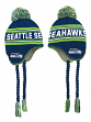 "Seattle Seahawks Youth NFL ""Deep Pass"" Striped Tassel Knit Hat w/ Pom"