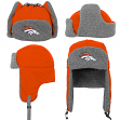 "Denver Broncos Youth NFL ""Linebacker"" Fur Lined Knit Trooper Hat"