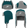 "Philadelphia Eagles Youth NFL ""Linebacker"" Fur Lined Knit Trooper Hat"