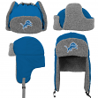 "Detroit Lions Youth NFL ""Linebacker"" Fur Lined Knit Trooper Hat"