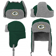 "Green Bay Packers Youth NFL ""Linebacker"" Fur Lined Knit Trooper Hat"