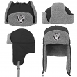 "Oakland Raiders Youth NFL ""Linebacker"" Fur Lined Knit Trooper Hat"