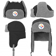 "Pittsburgh Steelers Youth NFL ""Linebacker"" Fur Lined Knit Trooper Hat"